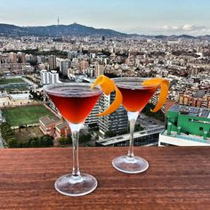 No words to describe the feeling of drinking a cocktail with incredible views of Barcelona like this