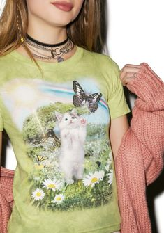 """thelosersshoppingguide: """"Kitty's Dreamland Tee - On Sale for """" Boy London, Tie Dyed, Sweater Shirt, Kittens, Street Wear, Fairy, T Shirts For Women, Tees, Dolls"""
