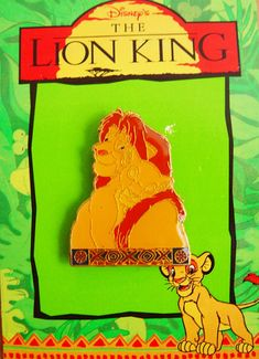 Disney Lion King-Jewelry Enamel Pin Simba by VintageUpcycled