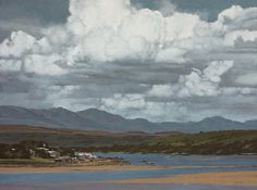 John Meyer / Seabreeze / acrylic & sand on canvas / 115 x 155 cm John Meyer, Landscape Paintings, Clouds, Sky, Contemporary, Canvas, Traditional Paintings, Outdoor, Artworks