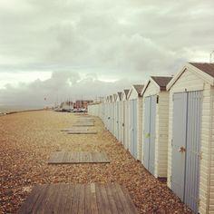Bexhill On Sea - Vintage English Seaside resorts - Beach Huts.