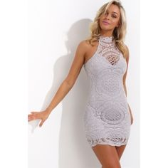 Lace Lullaby Dress Grey