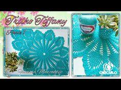 Trilho de mesa Tiffany em Crochê.1/3 Por Vanessa Marcondes. - YouTube