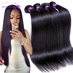 7A Grade Braziliaanse Virgin Haar Straight 4 Bundels Onverwerkte Virgin Braziliaanse Straight Hair Weave Bundels Human Hair Extensions