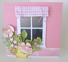 Memory Box Window die and beautiful flowers.