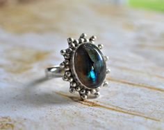 Your place to buy and sell all things handmade Labradorite Jewelry, Gemstone Jewelry, Blue Rings, Electric Blue, Buy And Sell, Rainbow, Etsy Shop, Sterling Silver, Handmade