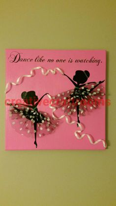 Canvas Wall Art, Ballerina Dancers, Girl's Room, Vinyl  Painting, Ballet Art, Dancer Art, Ballet Shoes, Acrylic Wall Art, Girls Room, by CreativeCraftRooms on Etsy https://www.etsy.com/listing/245228783/canvas-wall-art-ballerina-dancers-girls