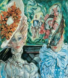 Courtesans in Paris  c 1910   by Gyula Batthyany (Hungarian artist, 1887-1959)