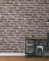 papier peint louca vinyle sur intiss imitation briques gris. Black Bedroom Furniture Sets. Home Design Ideas