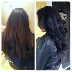 Before & after color by Ashley