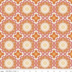 """Riley Blake """"Flutter""""Ornamente orange,ab 50cm*DY20 von allerliebste Stoffe auf DaWanda.com"""