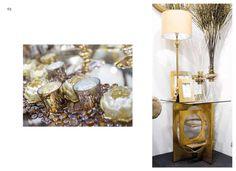 recibidores en tonos dorados en www.virginia-esber.es