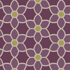 Beacon House 8 in. W x 10 in. H Blossom Purple Geometric Floral Wallpaper Sample-2535-20610SAM - The Home Depot