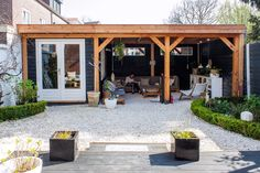 backyard porch ideas on a budget patio makeover outdoor spaces best of i like this open layout like the pergola over the table grill 2 Backyard Patio Designs, Backyard Landscaping, Patio Ideas, Porch Ideas, Patio Overhang Ideas, Backyard Ideas, Outdoor Rooms, Outdoor Living, Outdoor Kitchens