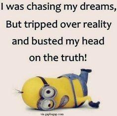 Funny Minion Quote – Chasing Dreams