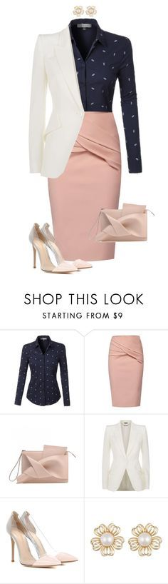 """#674"" by anne1999 on Polyvore featuring mode, LE3NO, WtR, Alexander McQueen en Gianvito Rossi"