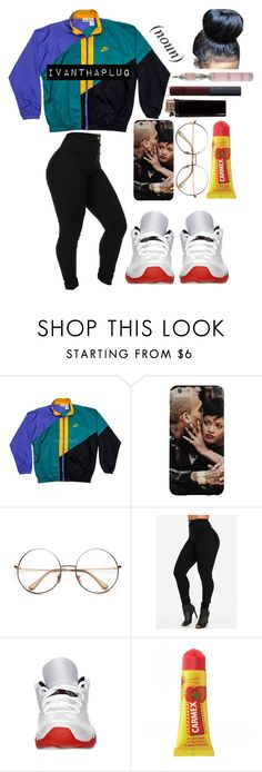 """""""really im tha plug really im tha plug"""" by to-cool230am-foru ❤ liked on Polyvore featuring NIKE, Retrò, Carmex, NARS Cosmetics, women's clothing, women, female, woman, misses and juniors"""