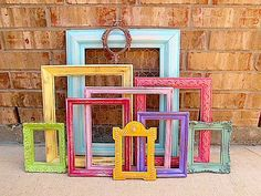 Picture frames are so versatile and can be used with alot of impact for your wedding or party. Individualize them with a lick of paint and group together and you have the start of a wonderful display.