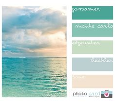 Beautiful beach color pastels
