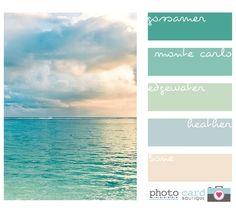 Beautiful beach color pastels