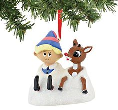 Department 56 North Pole - Rudolph and Hermey - Christmas Ornament