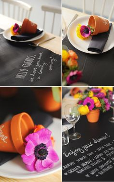 12 Crafty Table Runners: Chalkboard Table Runner