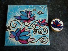 Schilderij en een cupcake