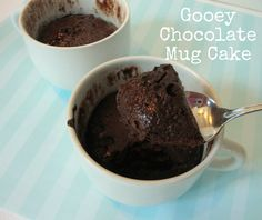 Gooey Chocolate Mug Cake 1 egg 2 tablespoons cocoa powder 1/4 cup powdered sugar - that's all
