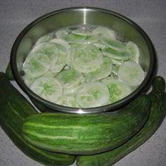 Creamed Cucumber Slices Allrecipes.com