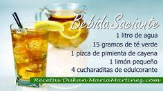 Nueva dieta Dukan: Bebida Saciante de Té verde, cayena y limón