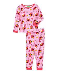 Look what I found on #zulily! Pink & Red Elmo Pajama Set - Infant #zulilyfinds