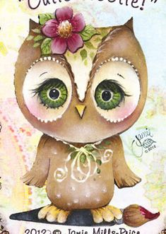 Cutie Hootie Packet by Jamie Mills Price Abstract Pictures, Owl Pictures, Decoupage, Fall Owl, Owl Clip Art, Tole Painting Patterns, Kids Room Paint, Country Paintings, Owl Bird
