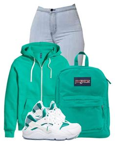 """""""Back up off me"""" by beautiful-image ❤ liked on Polyvore featuring H&M, JanSport and NIKE"""