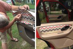Grosgrain: Custom Fabric Car Door Panels How-To