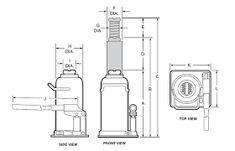 hydraulic bottle jack repair diagram google rh pinterest com hydraulic bottle jack diagram