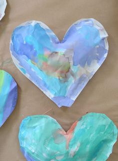 kid-made puffy hearts ~ multi step process that makes them feel very proud