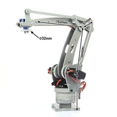 <Click Image to Buy> Industrial Robot DIY Control Palletizing Robot Arm Model for Arduino UNO with Power Supply Controller ** Robot Kits, Diy Robot, Robot Arm, Industrial Robotic Arm, Industrial Robots, Mechanical Arm, Mechanical Design, Robotics Projects, Arduino Projects