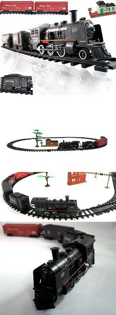 Other Rare Scale 180313: Railway King Electric Steam Locomotive Classical Train Playset With Lights And -> BUY IT NOW ONLY: $44.2 on eBay!