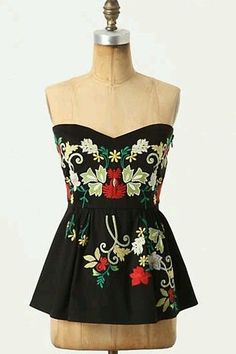 ***RARE*** Anthropologie Midnight Blooms Corset Blouse Top Size 8 Two Of Us