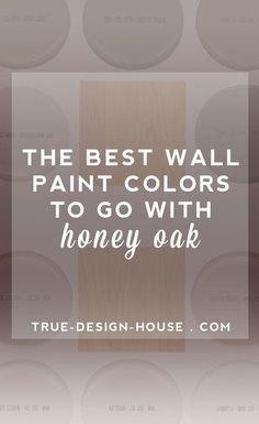 New kitchen paint with oak cabinets wall colors wood trim ideas Best Paint Colors, Kitchen Paint Colors, Wall Paint Colors, Paint Walls, Room Paint, Chalk Paint, Staubige Rose, Dusty Rose, Honey Oak Trim