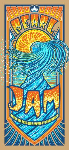 Pearl Jam  Ft Lauderdale 2016 Poster by Brad Klausen