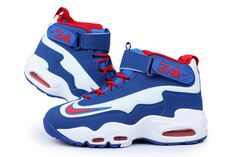 promo code 548f2 10299 Nike Air Griffey Max 1 White Game Royal-Varsity Red Free Shipping