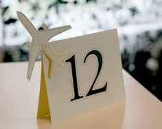 Airplane Table Numbers on Etsy, $2.80