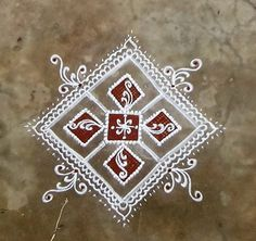 Rangoli Patterns, Rangoli Kolam Designs, Rangoli Ideas, Kolam Rangoli, Flower Rangoli, Indian Rangoli, Free Hand Rangoli Design, Small Rangoli Design, Simple Rangoli Designs Images