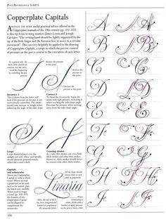 P106 A-J Copperplate Capital tutorial The Art of Calligraphy / Hispanoamérica. Artes...#page/n1/mode/2up