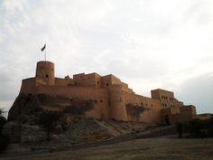 Oman | Nakhal Fort before dark. credit: Ali Al-Abri. view on fb https://www.facebook.com/SinbadsOmanPocketGuide