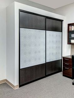 Did you know the Closet Works does sliding doors? Check out some of our sweet creations Wardrobe Interior Design, Wardrobe Door Designs, Wardrobe Design Bedroom, Bedroom Furniture Design, Home Interior Design, Tv Cupboard Design, Bedroom Cupboard Designs, Sliding Door Design, Sliding Doors