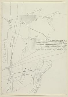 Joseph Beuys, Score for Action with Transmitter (Felt) Receiver in the Mountains, 1973
