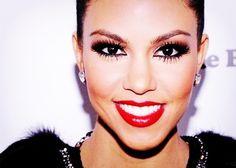 kourtney kardashian. i love her makeup. and she has the best hair ever.
