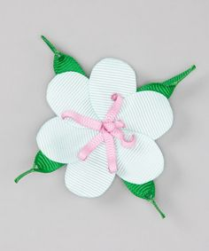 Take a look at this Ice Blue Flower Clip by Three Bears Hair Bows on #zulily today!